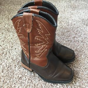 SmartFit Skid Resistant Girls Cowgirl Boots 6